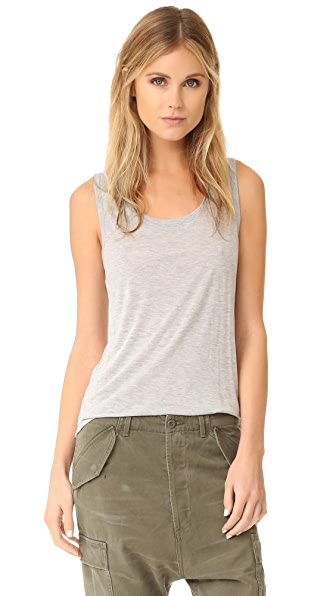 ATM Anthony Thomas Melillo Sweatheart Tank Top In Heather Grey