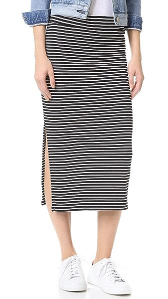 ATM Anthony Thomas Melillo Striped Rib Skirt