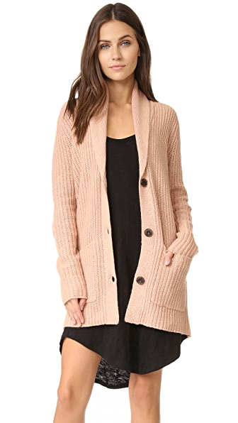 ATM Anthony Thomas Melillo Shawl Collar Sweater Coat