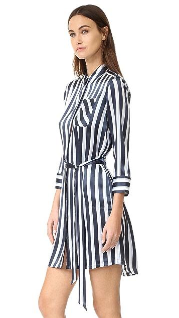 ATM Anthony Thomas Melillo Striped Shirtdress