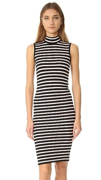 ATM Anthony Thomas Melillo Modal Rib Sleeveless Stripe Dress