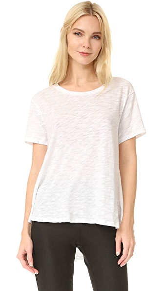 ATM Anthony Thomas Melillo Boyfriend Crew Tee - White