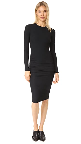 ATM Anthony Thomas Melillo Modal Rib V Neck Dress In Black