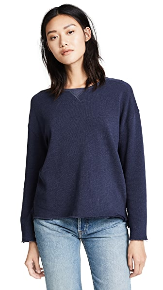 ATM Anthony Thomas Melillo Extended Shoulder Sweatshirt In Midnight