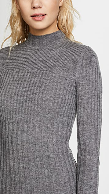 ATM Anthony Thomas Melillo Varigated Rib Turtleneck Sweater