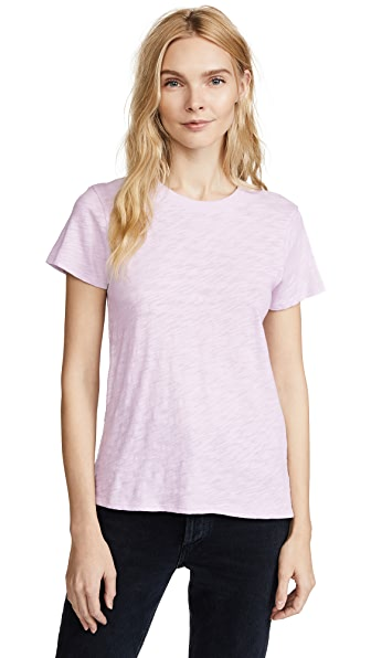 ATM Anthony Thomas Melillo Short Sleeve Tee In Lavender