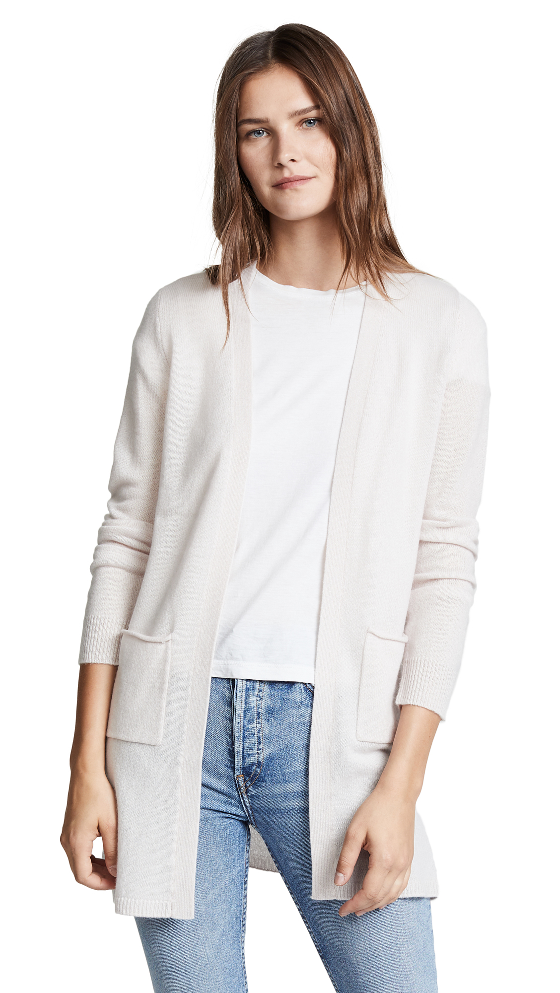 ATM Anthony Thomas Melillo Cashmere Cardigan In Lunar