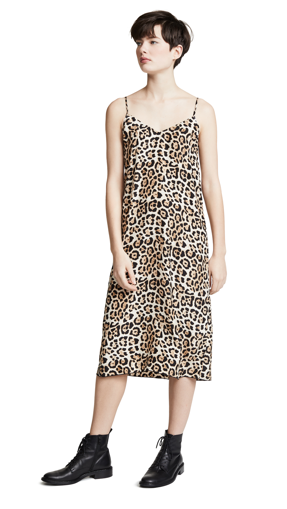 026c3472bd157 Atm Anthony Thomas Melillo Leopard-Printed Silk Slip Dress In Leopard Print