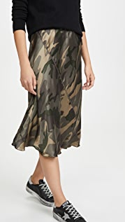 ATM Anthony Thomas Melillo Шелковая юбка с камуфляжным принтом