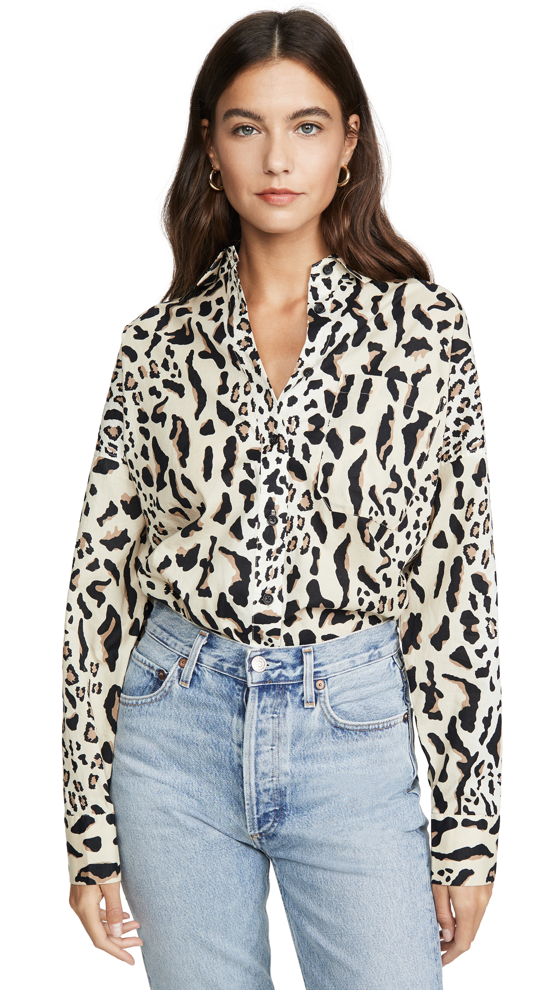 Buy ATM Anthony Thomas Melillo online - photo of ATM Anthony Thomas Melillo Leopard Print Boyfriend Shirt