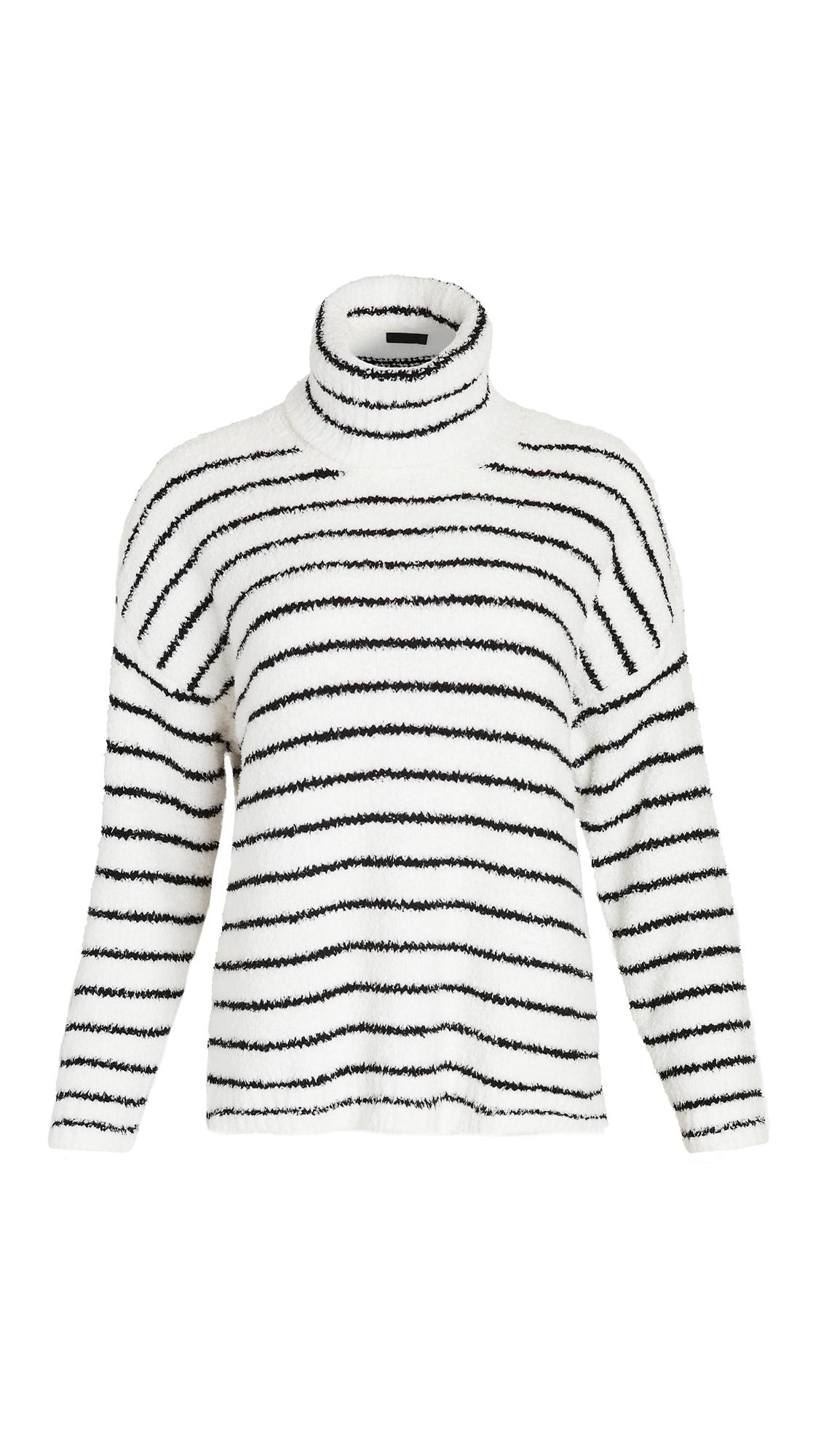 ATM Anthony Thomas Melillo Chenille Funnel Neck Sweater