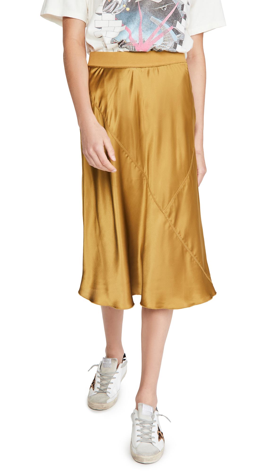 ATM Anthony Thomas Melillo Silk Pull On Skirt