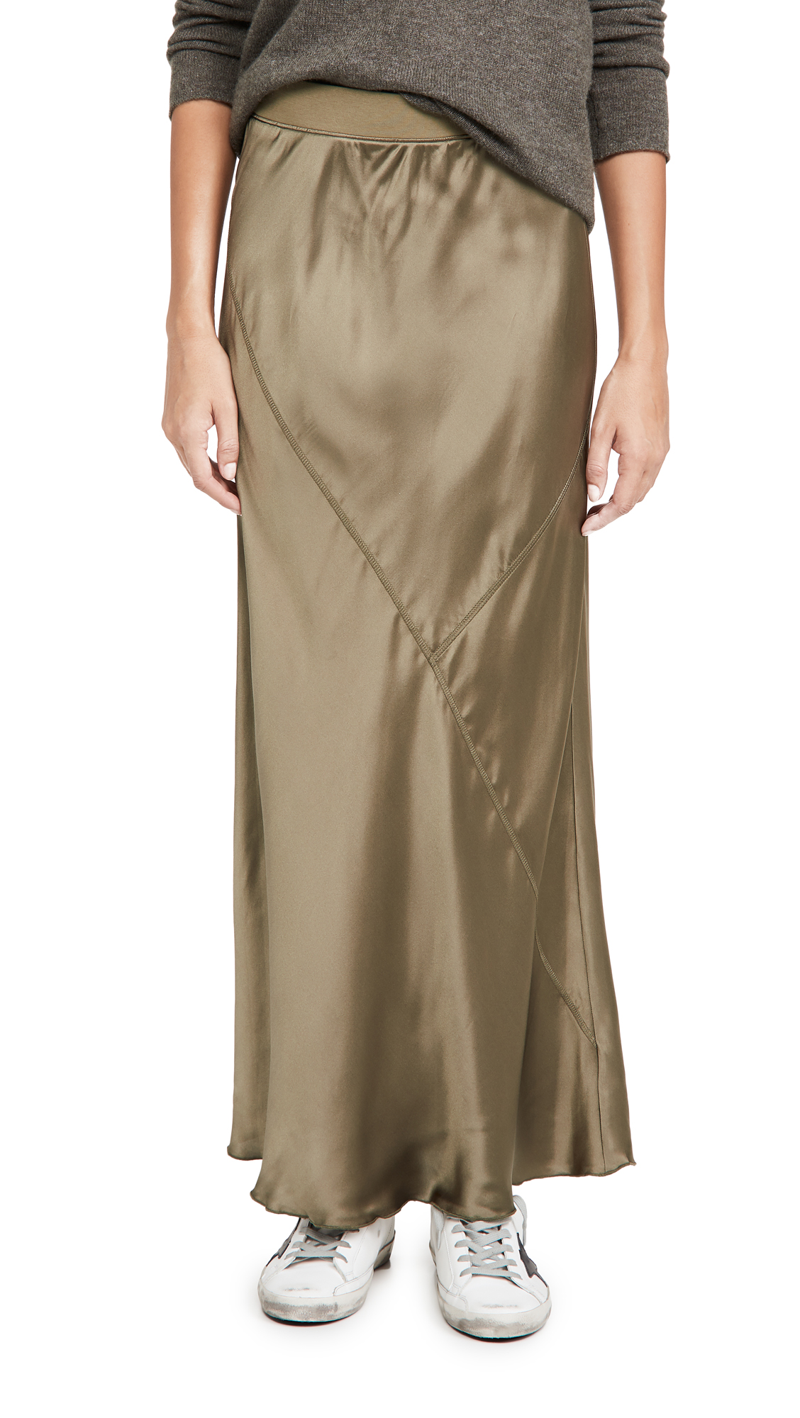 ATM Anthony Thomas Melillo Silk Ankle Length Skirt