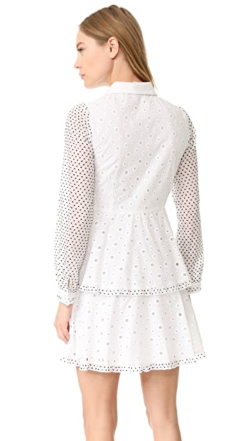 Amelia Toro Swiss Cotton Eyelet Dress