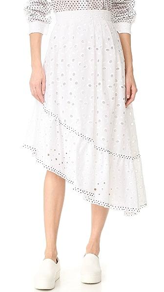 Amelia Toro Swiss Cotton Eyelet Skirt