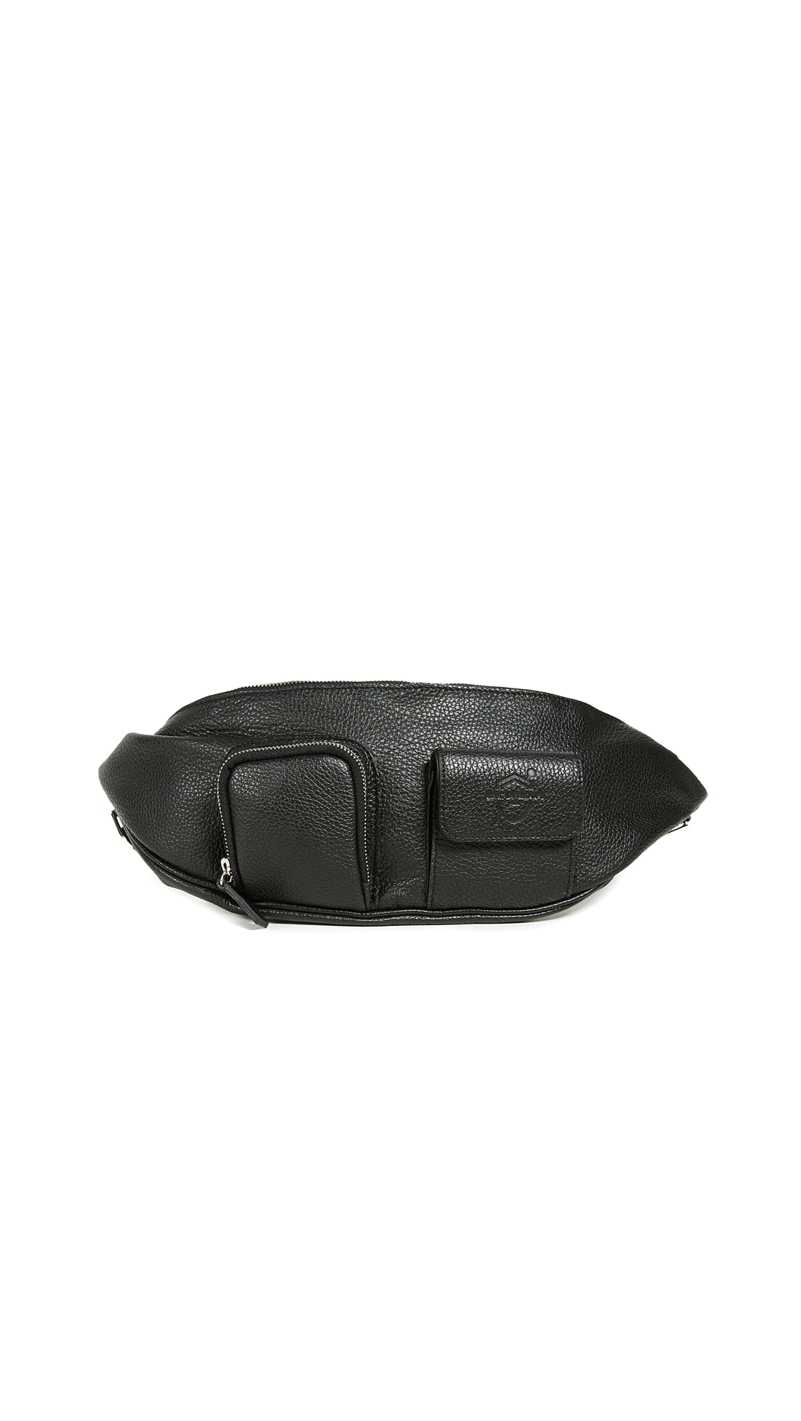 AVEC LA TROUPE Major Belt Bag in Black