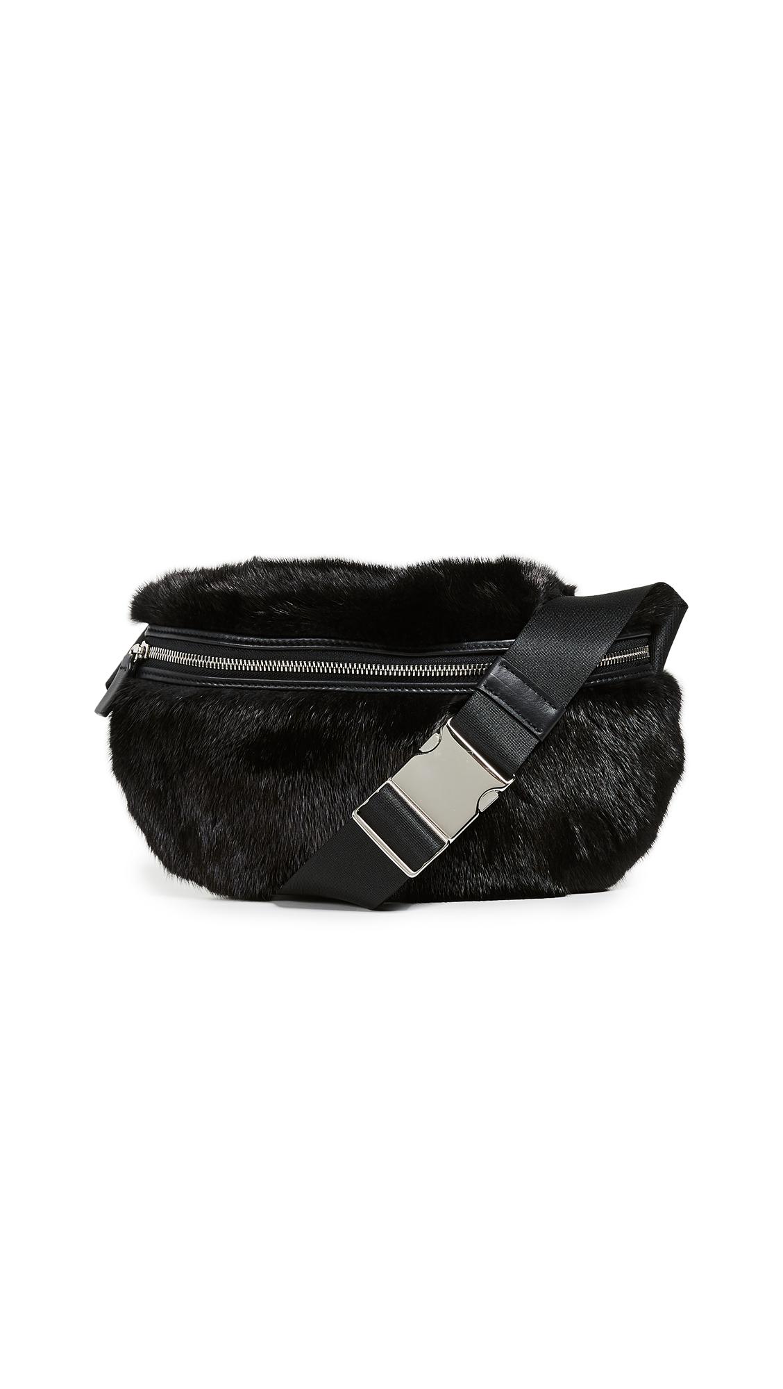 AVEC LA TROUPE Mink Major Belt Bag in Black