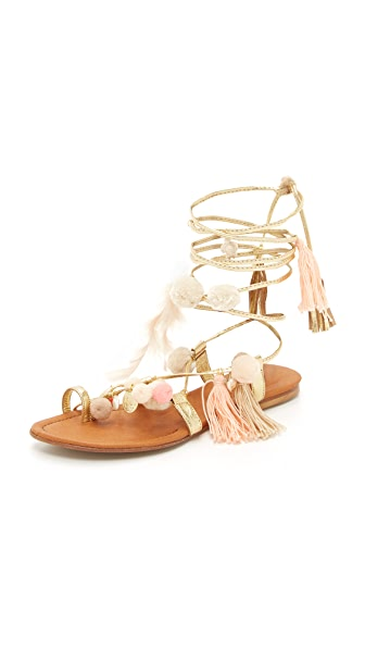 Alameda Turquesa Aurora Lace Up Sandals - Light Pink Multi