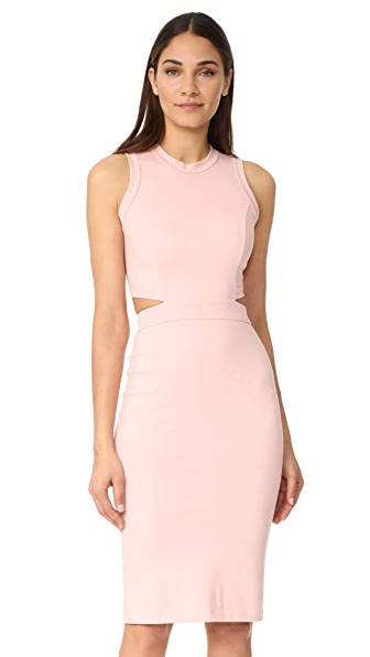 Amanda Uprichard Shaina Dress - Dusty Rose