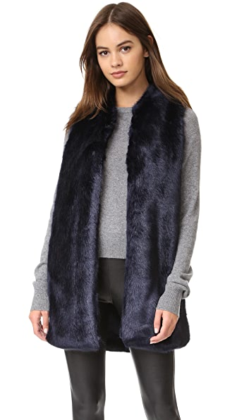 Amanda Uprichard Faux Fur Vest