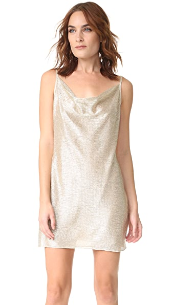 Amanda Uprichard Bowie Mini Dress - Champagne