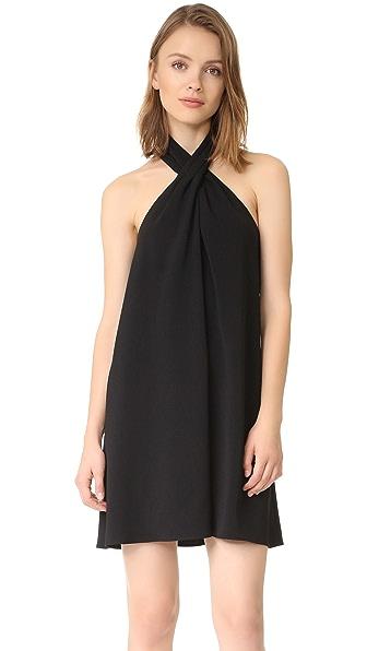 Amanda Uprichard Cross Neck Dress