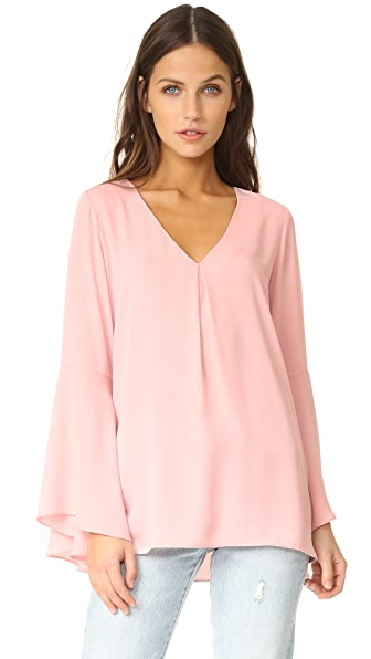 Amanda Uprichard Laura Top - Dusty Rose
