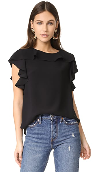 Amanda Uprichard Colette Top In Black