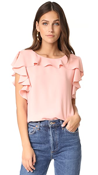 Amanda Uprichard Colette Top - Dusty Rose