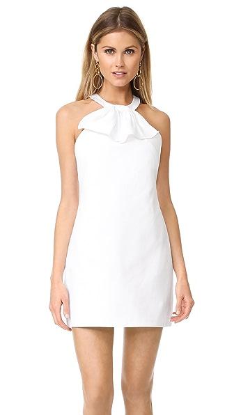 Amanda Uprichard Kitsy Dress In White Pique