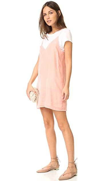 Amanda Uprichard Kendall Velvet Slip Dress
