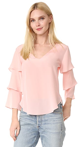 Amanda Uprichard Budapest Top In Dusty Rose
