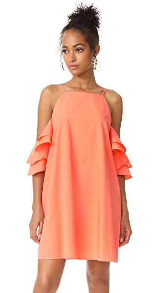Amanda Uprichard Catalina Dress - Coral