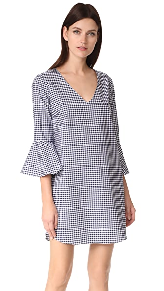 Amanda Uprichard Elodie Dress - Navy Gingham