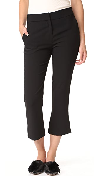 Amanda Uprichard Kendall Crop Pants - Black