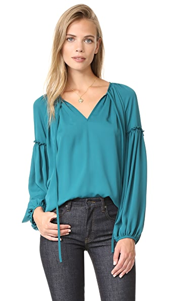 Amanda Uprichard Naya Top In Jade