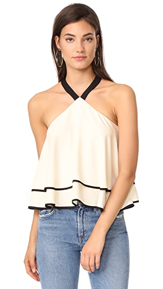 Amanda Uprichard Mareka Top In Ivory