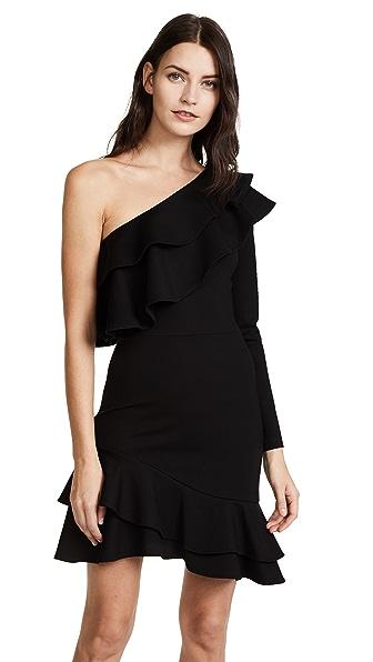 Amanda Uprichard Pavel Dress In Black