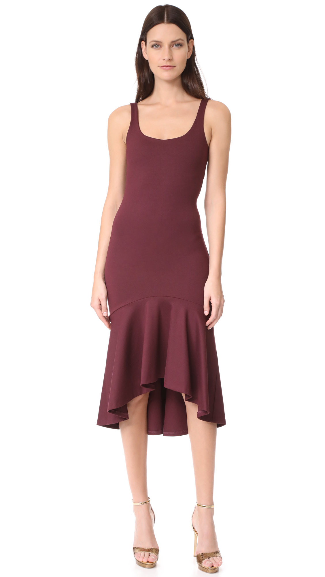 Amanda Uprichard Parker Dress - Syrah