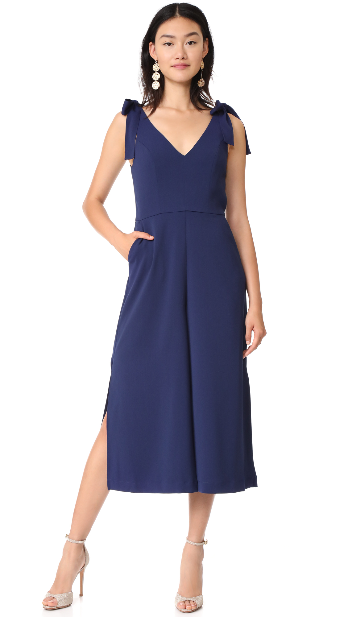 Amanda Uprichard Iris Jumpsuit - Navy
