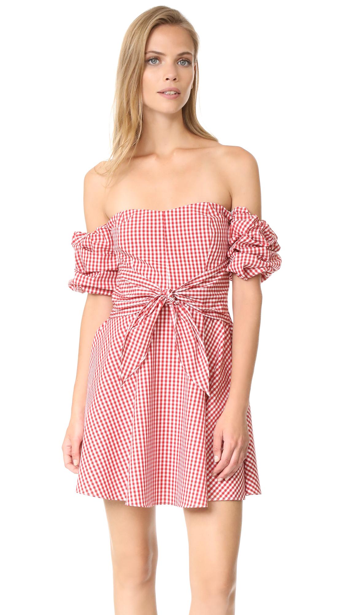 Amanda Uprichard Austin Dress - Red/White Gingham