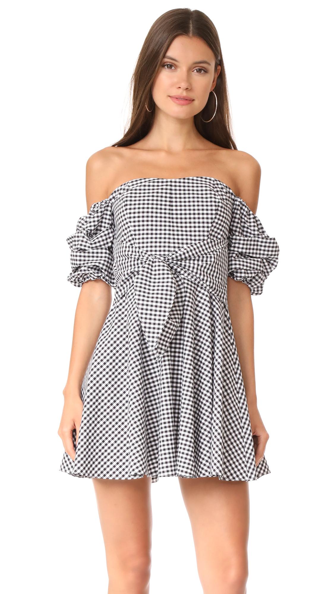 Amanda Uprichard Austin Dress - Black/White Gingham