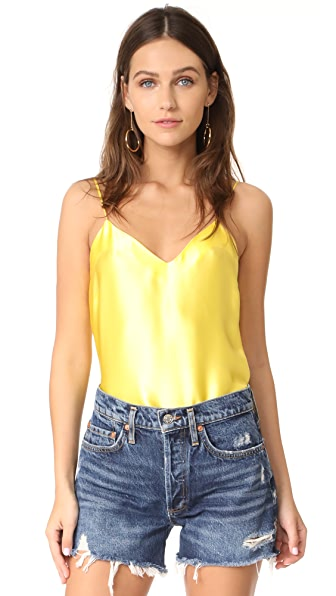 Amanda Uprichard Silk Cami - Zest Yellow
