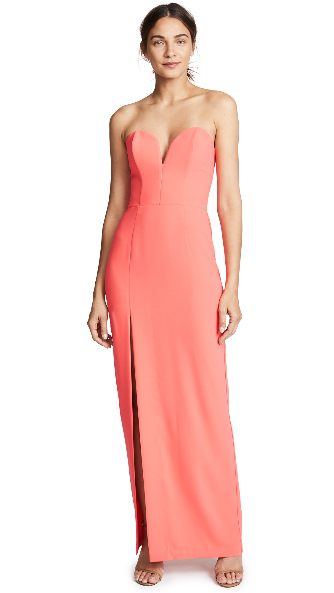 Amanda Uprichard Cherri Gown In Electric Rouge