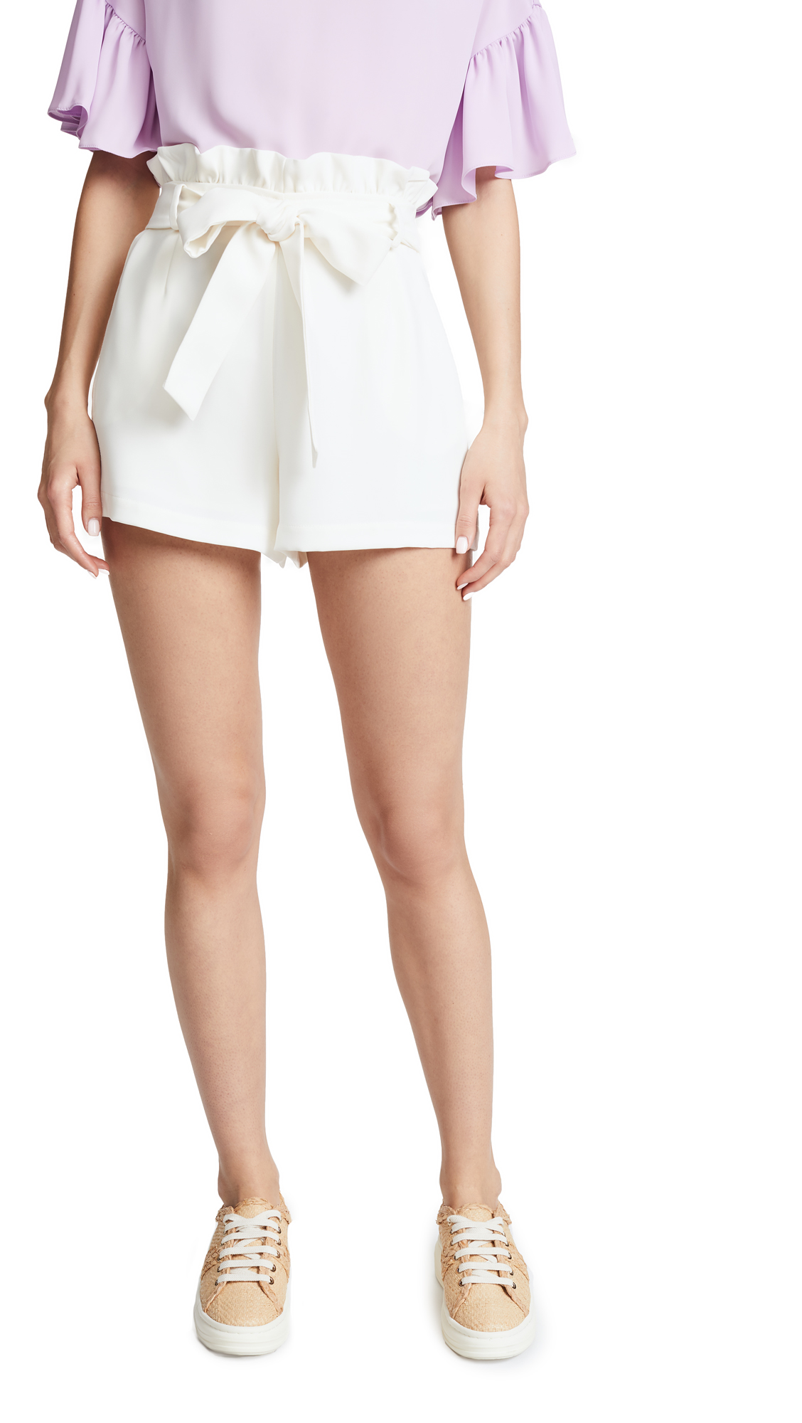 Amanda Uprichard Tessi Shorts In Ivory