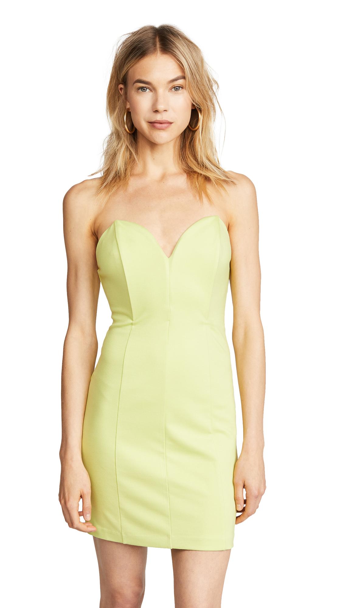 Amanda Uprichard Sangria Dress In Soft Lime