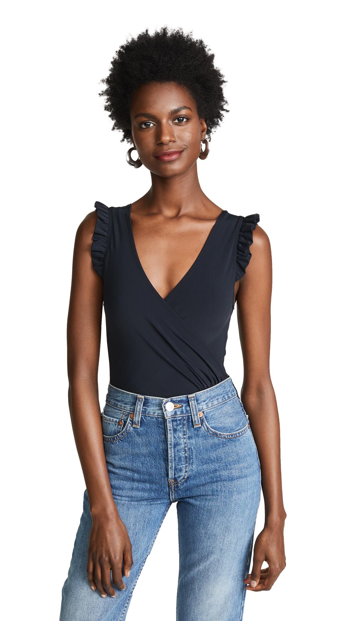 AMANDA UPRICHARD Webster Bodysuit in Black