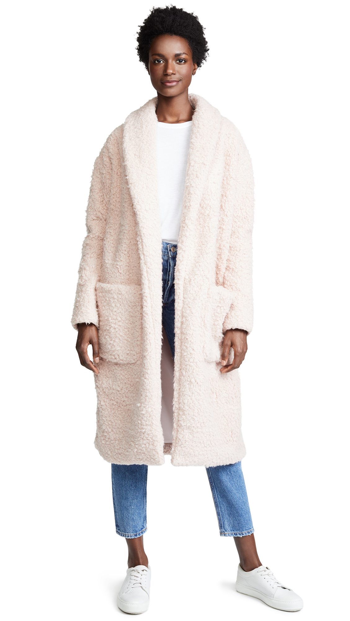 Amanda Uprichard Aspen Cocoon Coat In Aspen