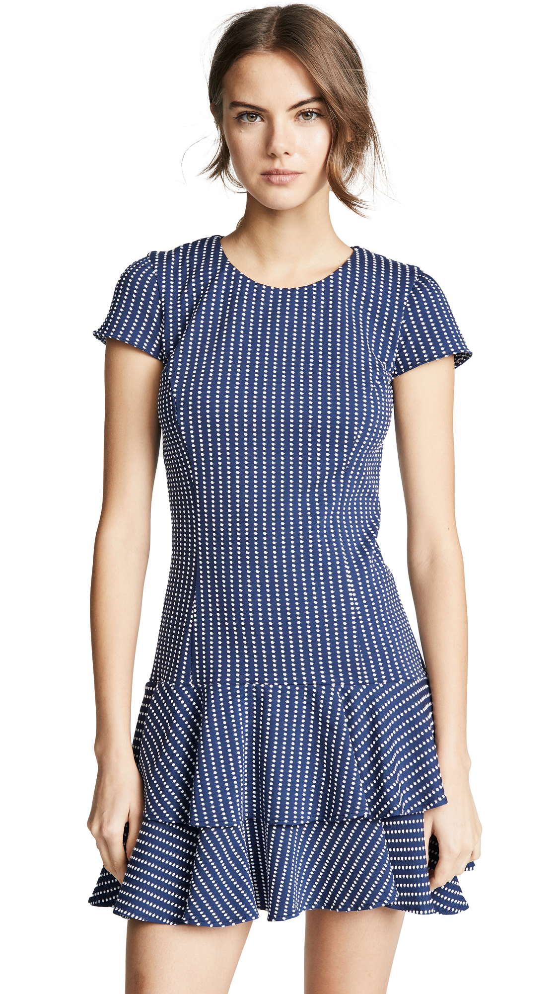Amanda Uprichard Degraw Dress - Navy Dot