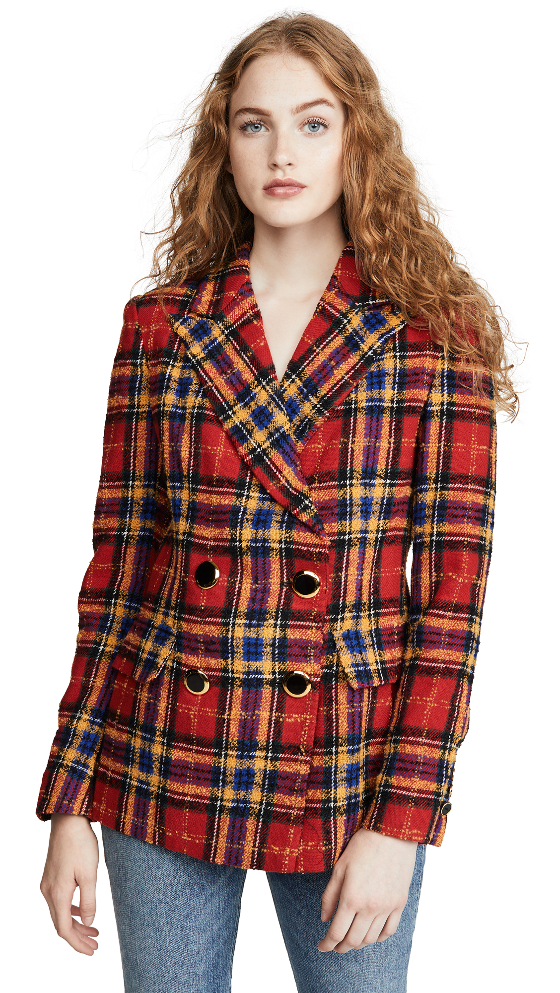 Amanda Uprichard Winters Blazer In Scotch Plaid